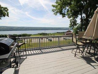 Family & Dog Friendly home! Seneca Lake Views : 3-Bed, 2-Bath on Wine Trail!!