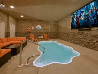 Private indoor heated pool and theater room!