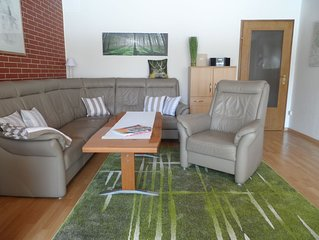*** Sterne Komfortferienwohnung, 68 m²,  große Terrasse mit Fernblick