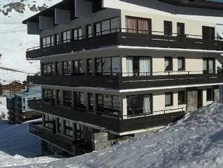 Le lavachet, ski aux pieds, 2 pièces 6-8 pers, grand balcon plein sud double exp