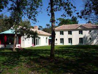 Le Basilic, villa 15 p. a Noirmoutier - Bois de la Chaise . jardin 4000m2