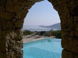 Villa avec terrasse et vue mer à 7min à pied de la plage