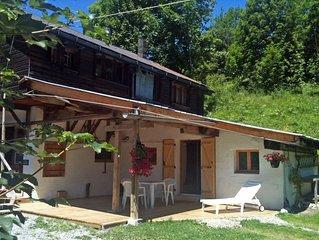 Petit T3 de charme pour 4 personnes - Terrasse abritee en RdJ de chalet - Versan