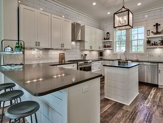 New construction, custom decorated, chic and spacious Seacrest home, sleeps 14