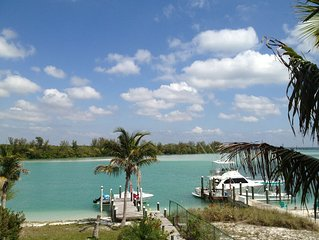Private Boat-dock and Beach at our Gulf to Bay Island Home