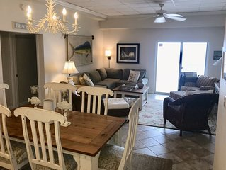 UPSCALE 3 BR unit with OCEANFRONT views from each room- sleeps 9 comfortably
