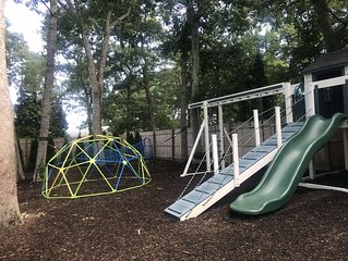 Huge Children's Playground Set, swings and Fenced-in and Heated Pool!