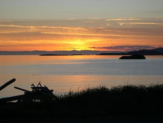 Beachfront with Spectacular Sunsets.  Lopez Island