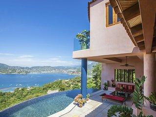 Stunning Bayview Zihuatanejo Luxury Villa *Casa Espiritu*