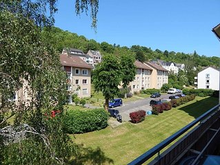 Erleben Sie Koblenz sehr zentral in Gartenanlage.