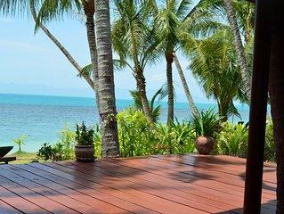 Ferienhaus unter Palmen direkt am Strand