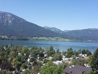 Traumhafte Aussicht auf den Wolfgangsee