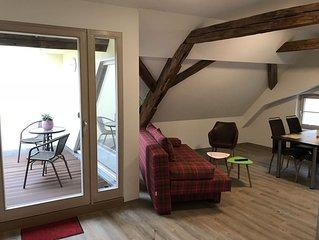 Apartment mit 2 Schlafzimmern und Dachterrasse in der Altstadt von Görlitz