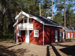 Exklusives Ferienhaus am Waldrand, nur 100 Meter zum Badestrand  -  GRATIS WLAN