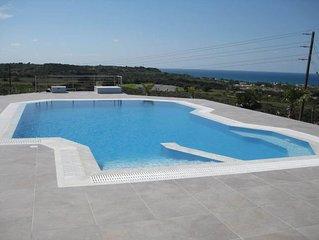 Traumvilla mit privatem Pool in Kos/Griechenland , Meerblick fur 4 Personen
