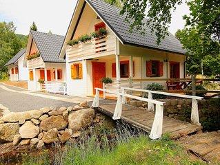 Gemütliches Ferienhaus Haus im idyllischen Oase, am Bach