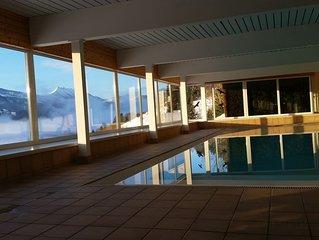 neu renovierte Ferienwohnung mit 2 Bädern, Schwimmbad, Sauna, gr. Flachbild-TV