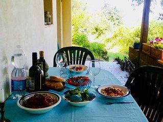 Liebevoll eingerichtetes Ferienhauschen direkt am See, inmitten Olivenhains
