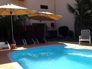 Gemuetliches Appartment -Gaestehaus mit Pool und Jacuzzi - La Preneuse