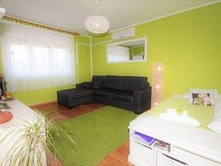 Fewo in Strandnähe, 4+1 Personen, free wifi, Klimaanlage,SAT-TV