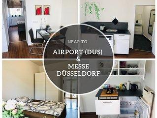 ⭐️NEW⭐️ Wohnung mit Balkon. Nähe Flughafen (DUS)  & Messe Düsseldorf