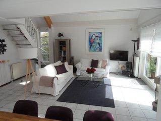 Luxus Villa*****:Sauna,Whirlpool,Kamin,WLAN,eingez.Garten,am Meer und Golfplatz