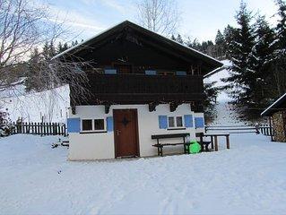 Gemütliche Hütte, 2 Schlafzimmer, 4 Personen,  Haustiere willkomme