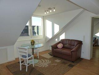 Wunderschöne 2-Zimmer-Dachgeschosswohnung zentral am Park mit See.