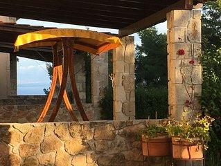 Stone Villa mit Meerblick, 4-6 Personen, ruhige Lage