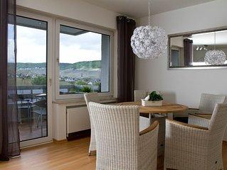 76 qm Große 4****Ferienwohnung mit Balkon und Panoramablick über Bernkastel