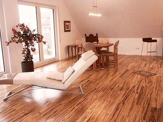 Ferienwohnung 1A, 67qm, Sonnenterrasse mit Liege, 1 Wohn-/Schlafzimmer, max. 2 P