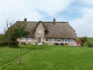 Exclusive, grosse Ferienwohnung im Reetdachhaus Baujahr 1840 saniert 2010