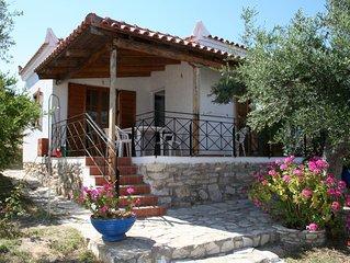 Ferienhaus inmitten von Olivenhainen, Meerblick, Wifi | Messenien, Peloponnes