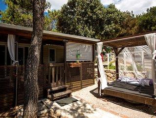 3 Luxuriöse Mobilheim - Camping Simuni, Pag, Kroatien