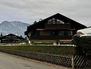 modern eingerichtete Ferienwohnung in Garmisch - ruhig gelegen - Erdgeschoss