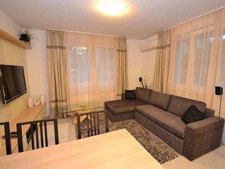 Luxus Appartement auf Erdgeschoss mit Wellness&Pool&Klima, Strand 120m,frei WIFI