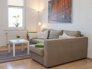 2 Zimmer FeWo, Küche, Bad, Balkon, HD-TV, WLAN, Parkplatz - Nähe Zoo, Messe