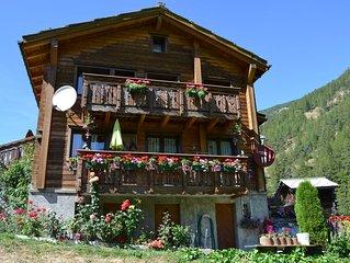 Typisches Walliser Haus, 3,5 Zimmerwohnung*** fur 2-6 Personen in Saas-Balen