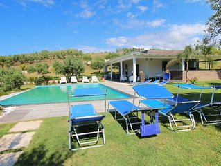 Modern property with Private Golf Practice, Private Pool, Garden, WiFi, Sea VIew