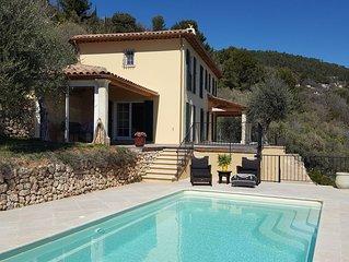 Cote d'Azur Villa mit Meersicht auf Bucht von Cannes