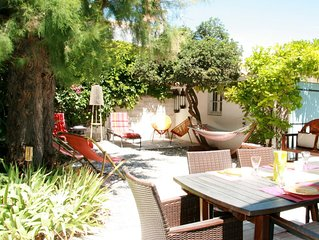 Villa sur jardin à 2 min de la plage, 3 chambres