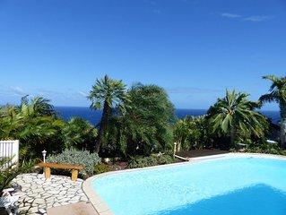 Grande Anse-Villa 10 personnes_Piscine, Jacuzzi, Vue mer