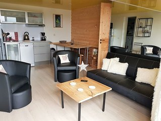 Appartement ECUREUIL dans chalet neuf avec vue sur lac de Matemale 6 couchages