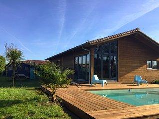 Maison Bois avec piscine chauffée à Seignosse