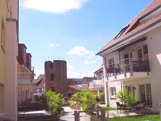 ROSENTURMBLICK, moderne Fewo, umgeben von der mittelalterlichen Stadt am Neckar