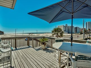 PERFECT Location! Beach views from EVERY room! Closest to Hangout Musicfest!