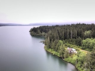 Secluded Lakefront Retreat on 7 acres on Lake Quinault