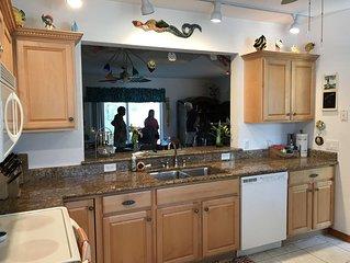 New Smyrna Beach House steps to no driving beach