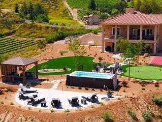 Luxury Home Nextdoor to Wineries with World Class Views of Temecula Wine Country