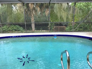 Waterfront Villa Manatee on Warm Mineral Springs *Pool *Deck